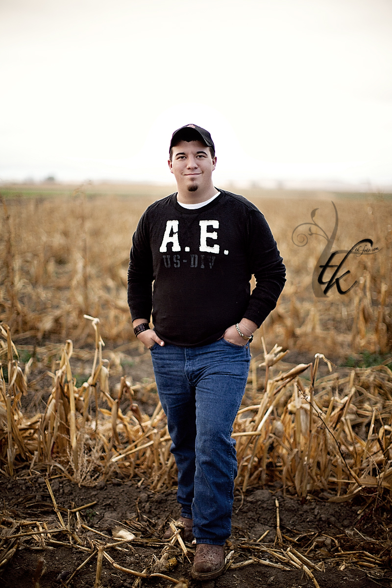 Cornfield - Boise Idaho Senior Portrait Photographer