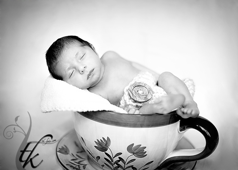 Baby in a Teacup - Boise Idaho Newborn Photographer