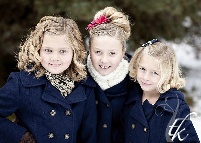 Girls in the Snow - Boise Idaho Children Photographer