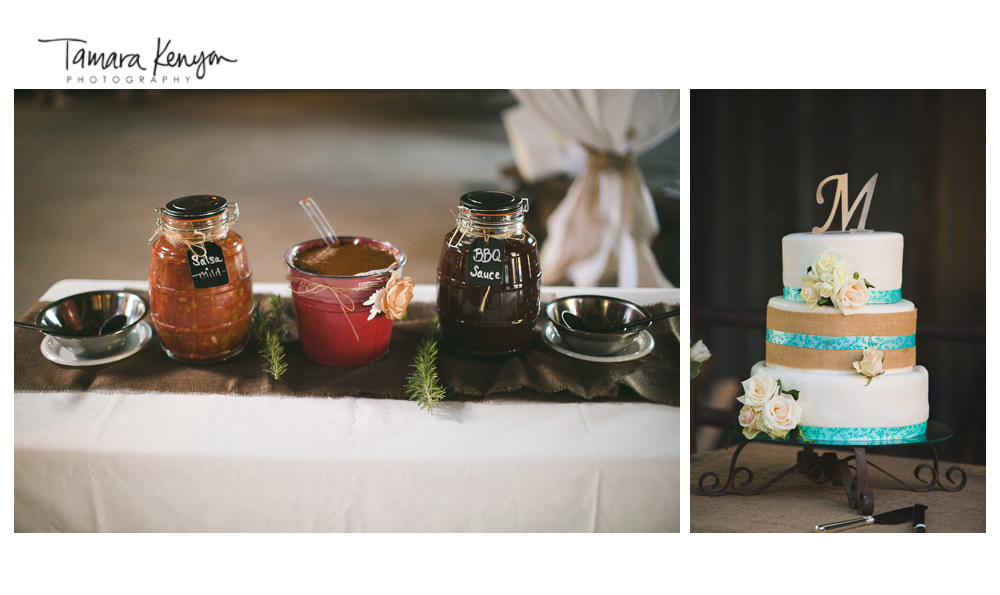 Bbq_wedding_reception_cake_mason_jars