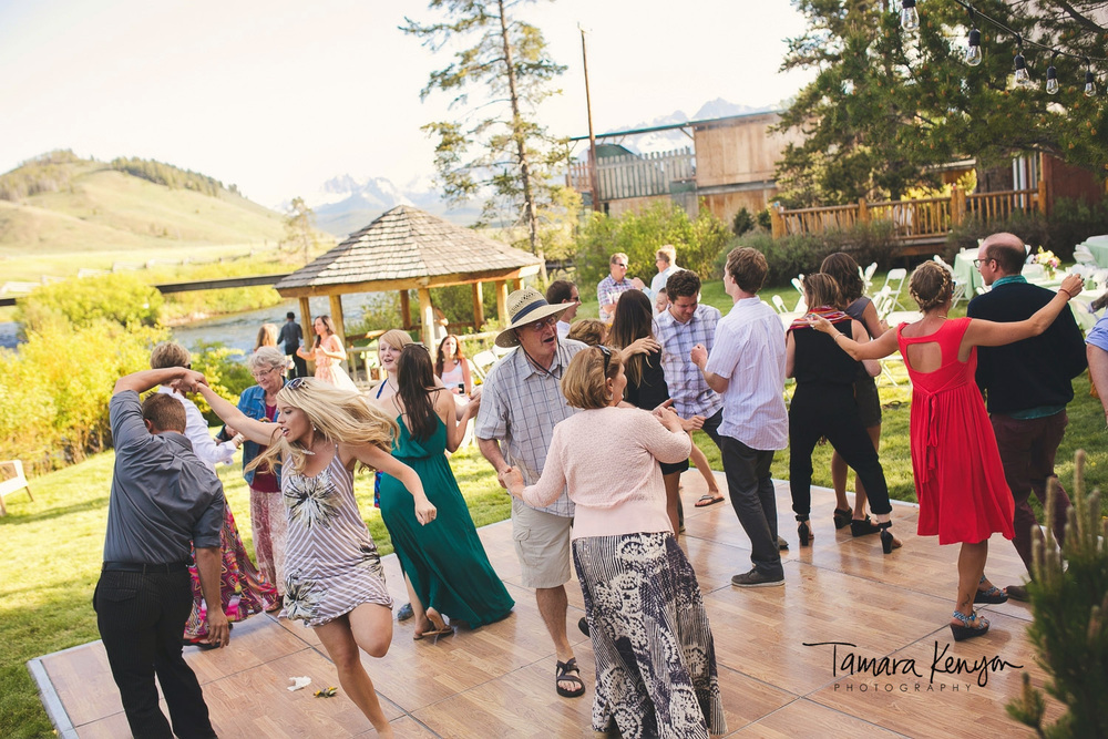 Stanley idaho wedding reception mountains