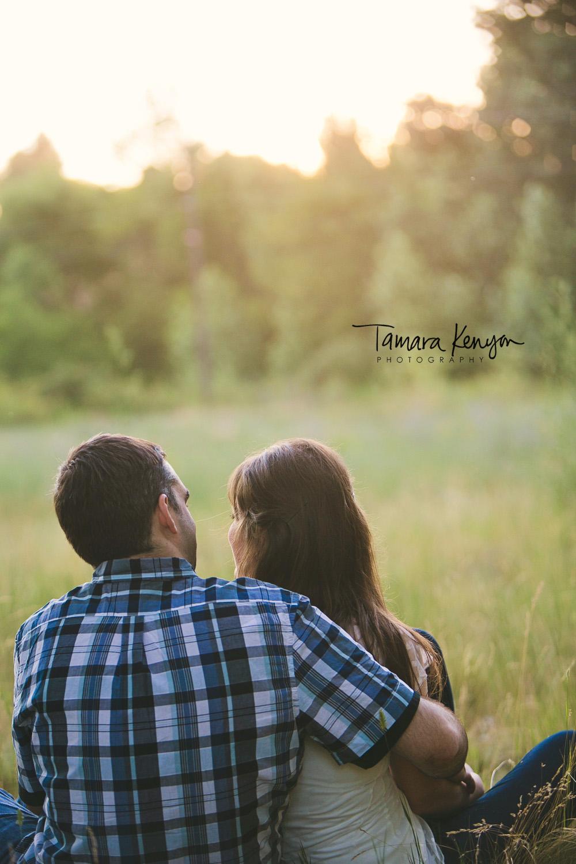 boise sunset engagement wedding