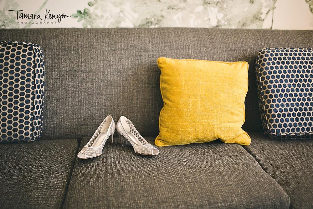 wedding details shoes grove hotel boise