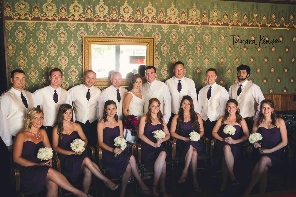 wedding photos pengillys saloon boise