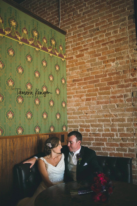 bride and groom pengillys saloon boise