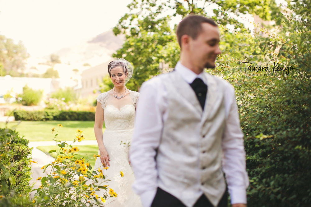 first look boise wedding