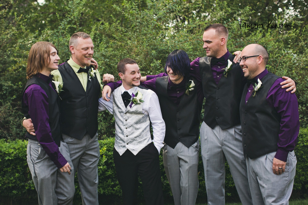 boise summer wedding groomsmen