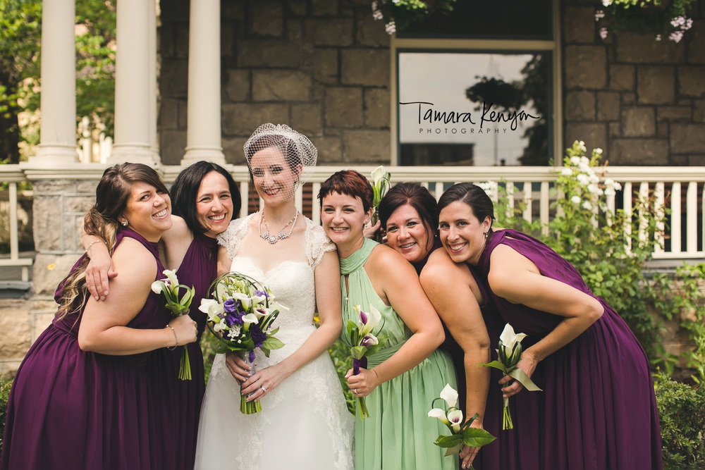bridesmaids boise garden wedding
