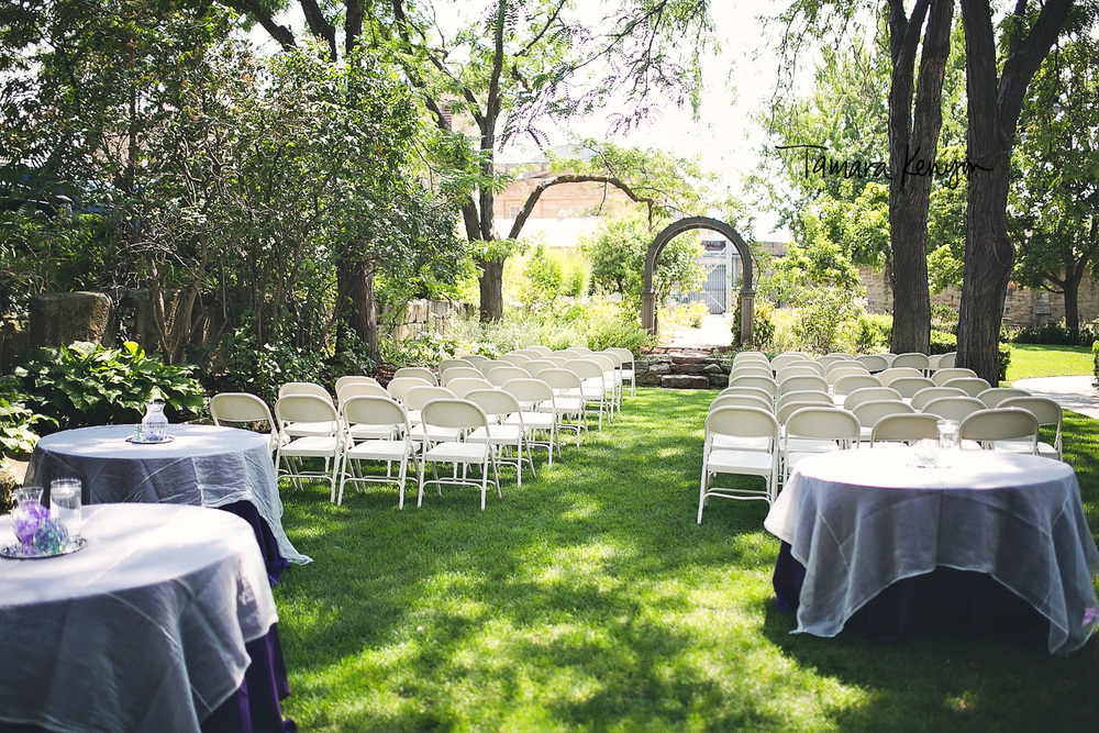 wedding ceremony at the bishops house