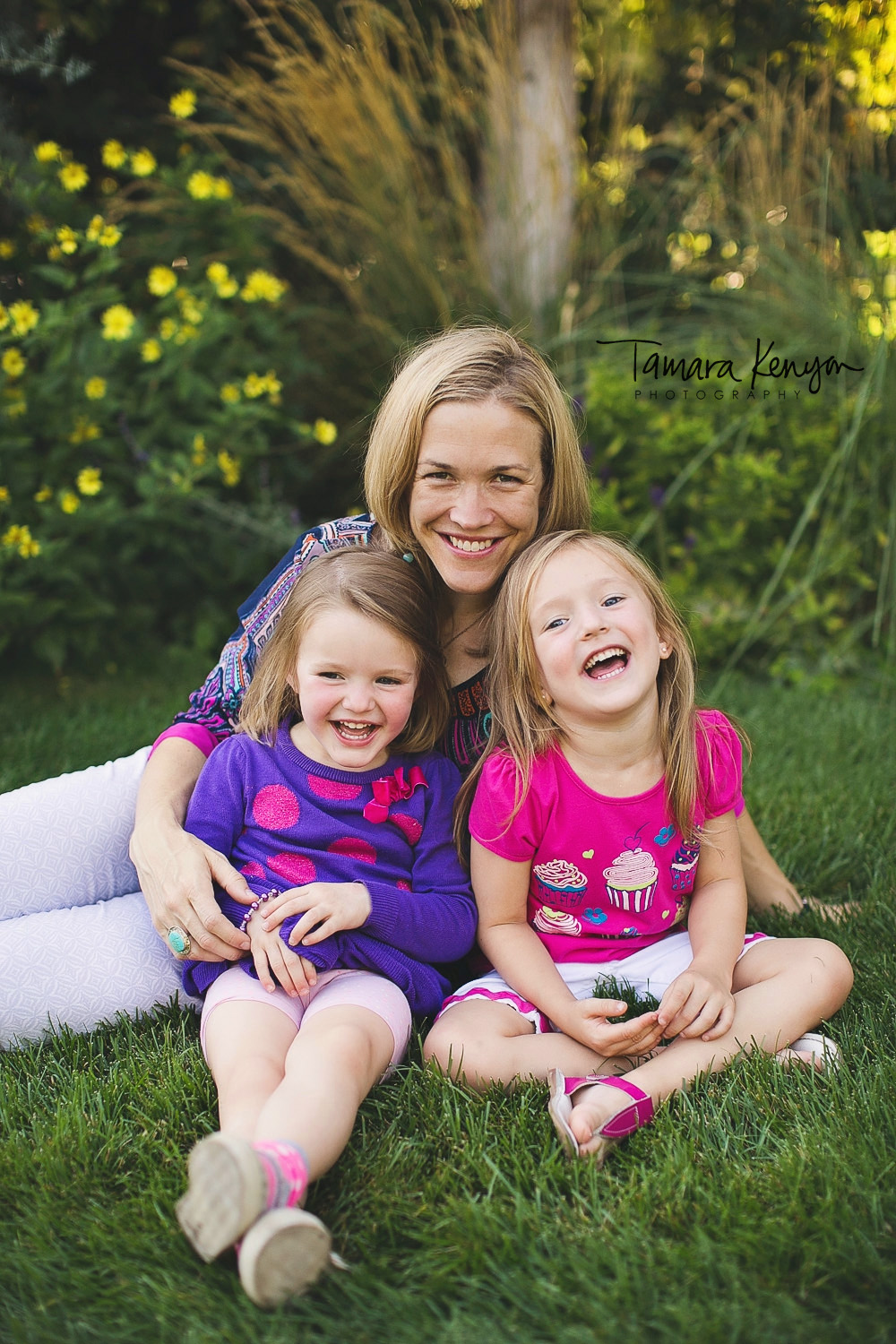 mother and daughters boise summer photo session