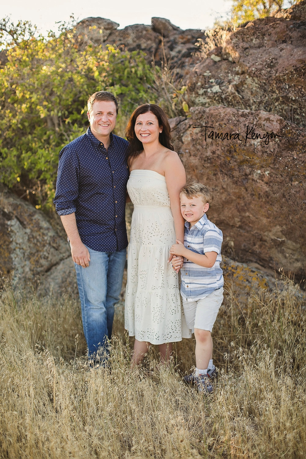 family photos in the boise foothills