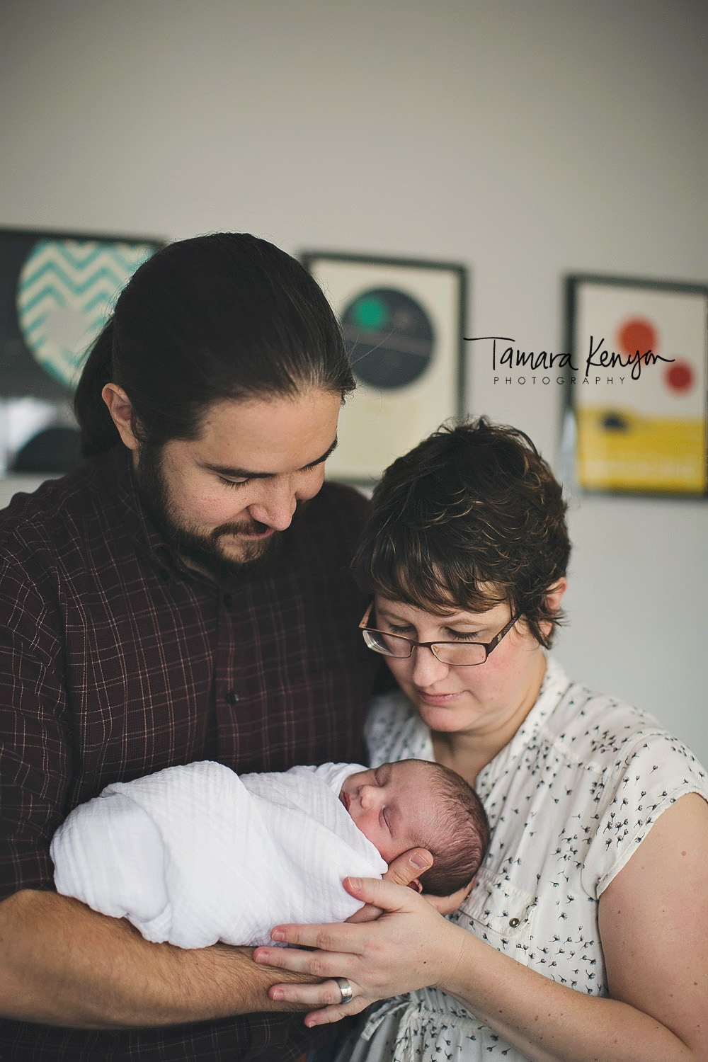 lifestyle family newborn session