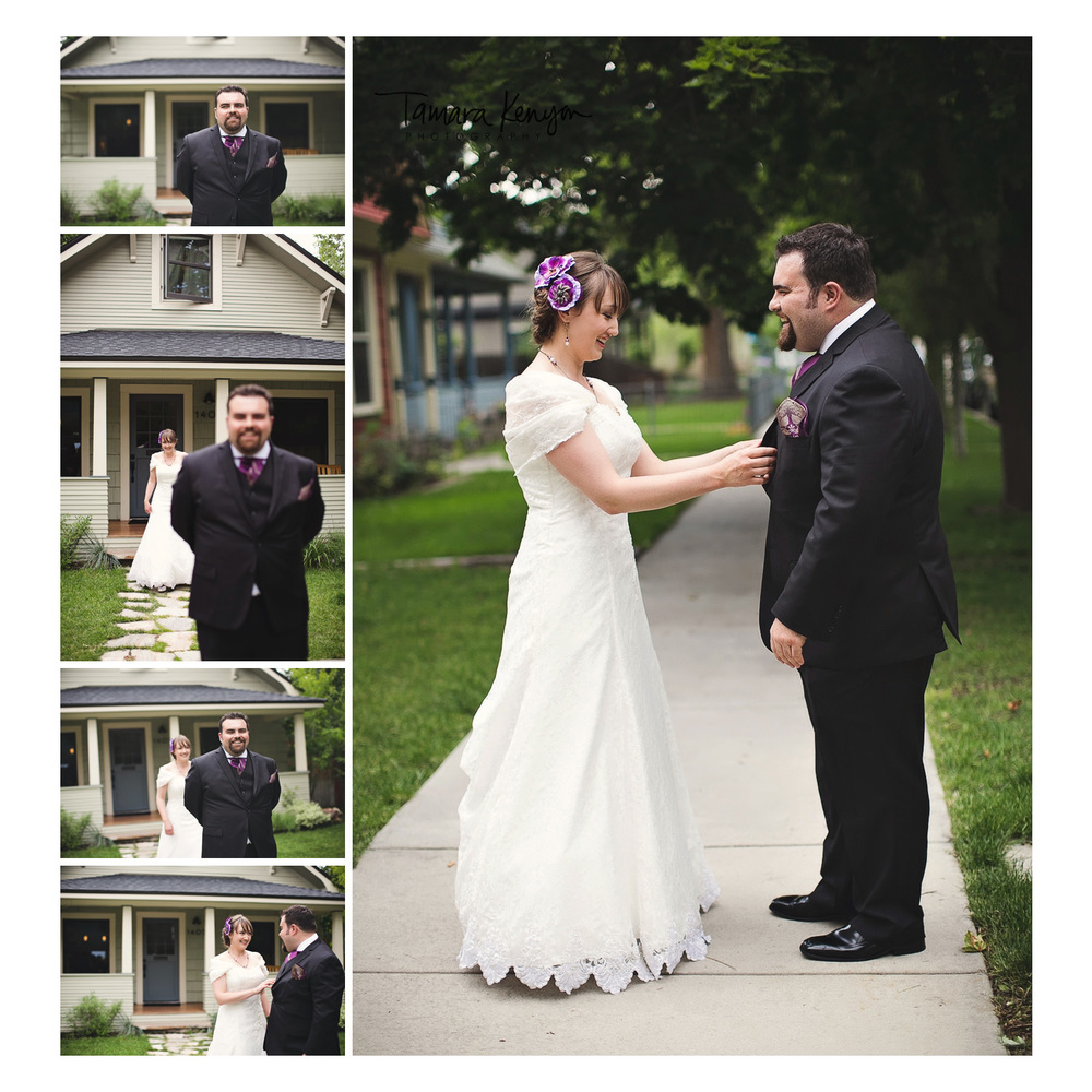 first look north end boise wedding