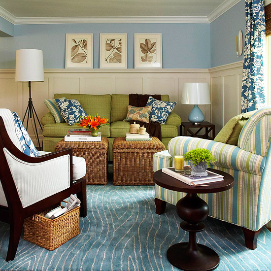 Selecting furniture think about scale kelsey hymel Better homes and gardens living room ideas