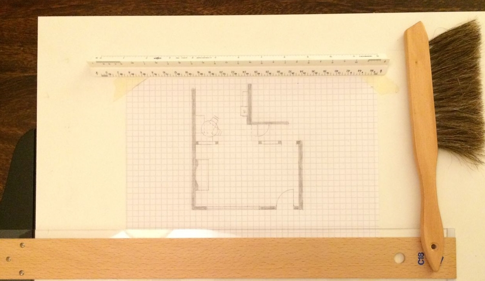 Floor plan with wall renovation.
