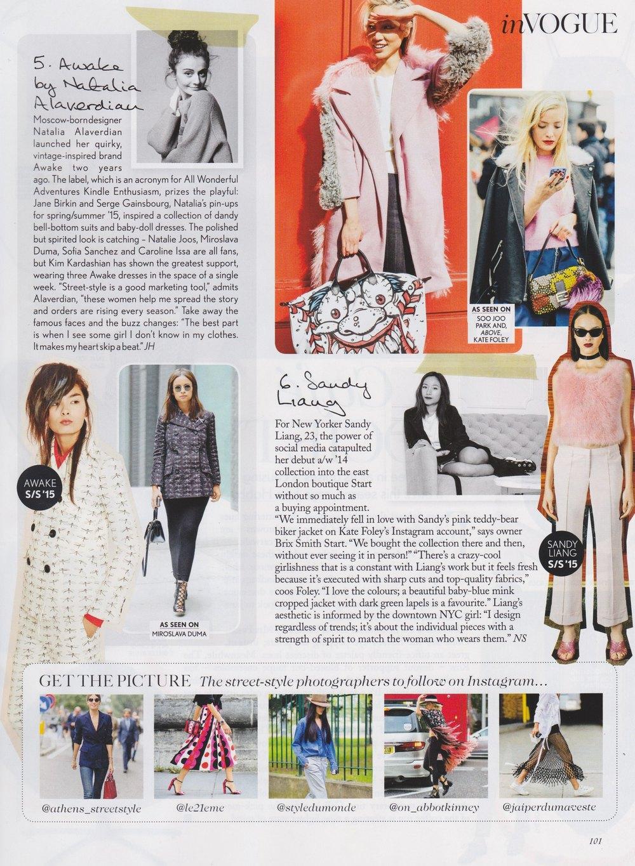 Vogue UK, January 2015