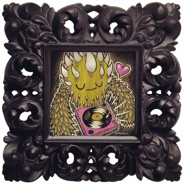 "#tbt to back when I was doing framed custom kaiju paintings. Like right now!  Just added a few custom kaiju painting slots to my web store guaranteed by Xmas. They've been unavailable for over a year, so better jump on them!  This is an ongoing series of affordable commissioned paintings that will eventually make up a collection of 100 unique kaiju monsters. I will accept requests for color preferences, objects, or elements to incorporate into your custom painting. You can leave your suggestions in the notes section while purchasing, but please note that they are only suggestions and I must reserve the right to not use them for the sake of series consistency. In the event of this unlikely occurrence, you will have the option of a refund or we can work something out. Image sizes are as unique and unpredictable as your kaiju monster (approx. 4""x6"" image area). store.josholland.com"