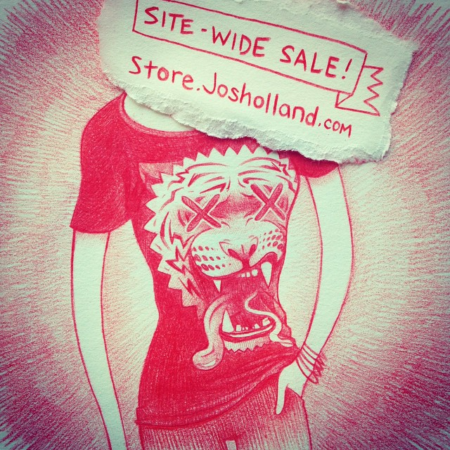 Happy Buy Shit Day! There's a site-wide sale going on in my shop, along with a few super-limited new items like my PBR artist-series prints. Have a look!  Store.josholland.com  #cybermonday #holidaysale #buyshit #fuckyeah