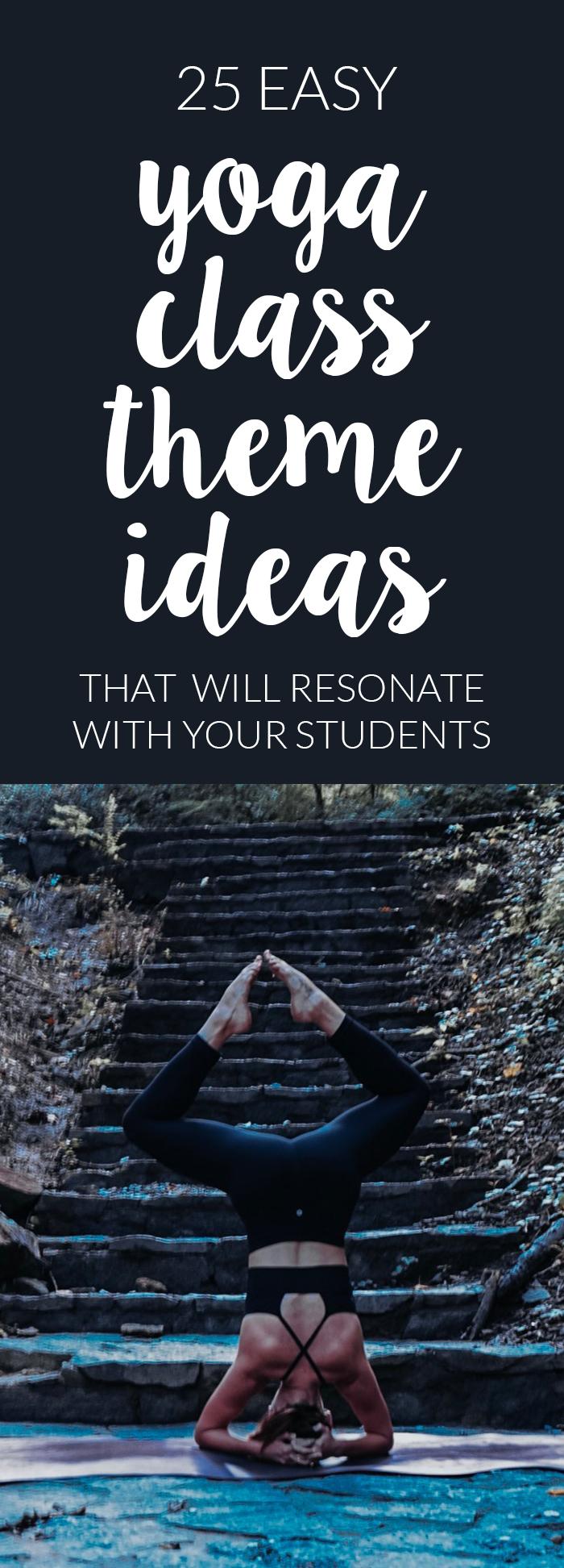 yoga theme ideas