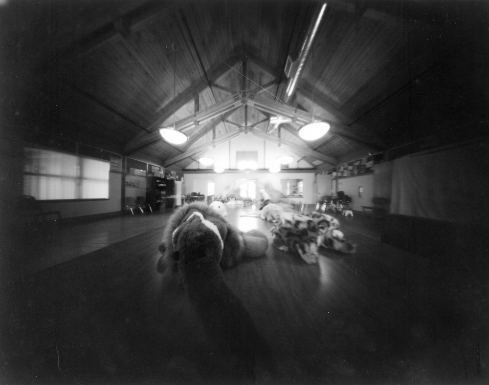 Pinhole, no extension  frame (25mm). 4 minute exposure.