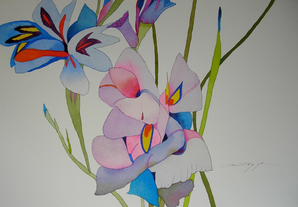 Gladiola Blossom with Moreas