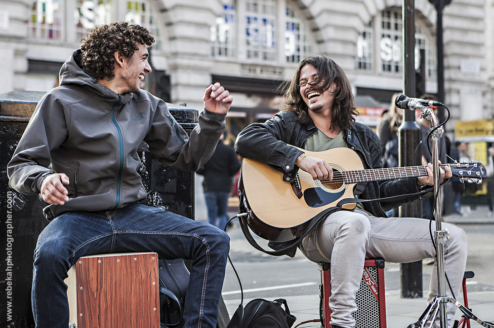 Busking in Piccadilly Circus (March 2016)