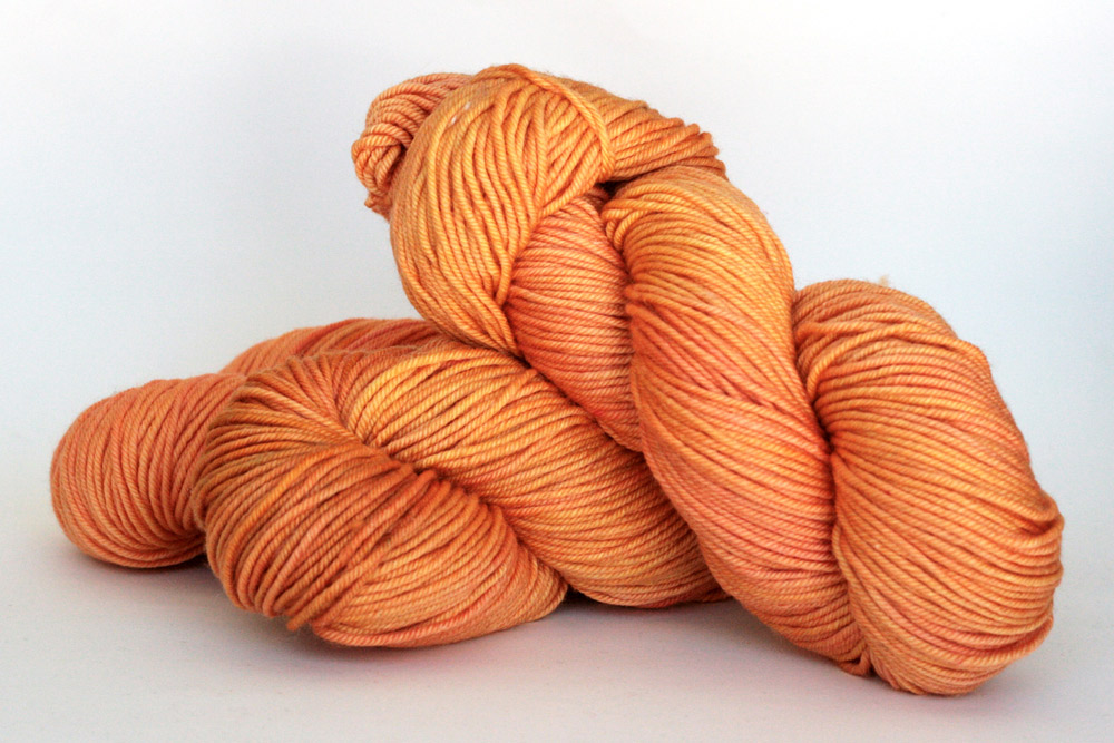 Orange Label Cashmere/Silk Worsted Weight in Orange Blossom.