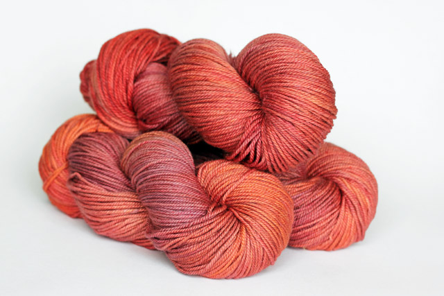 Amber Label Cashmere/Silk DK Weight in Sunset.