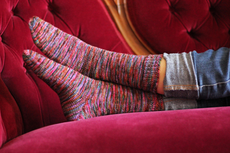 Super Simple Toe Up Sock Fo And Pattern Tanis Fiber Arts