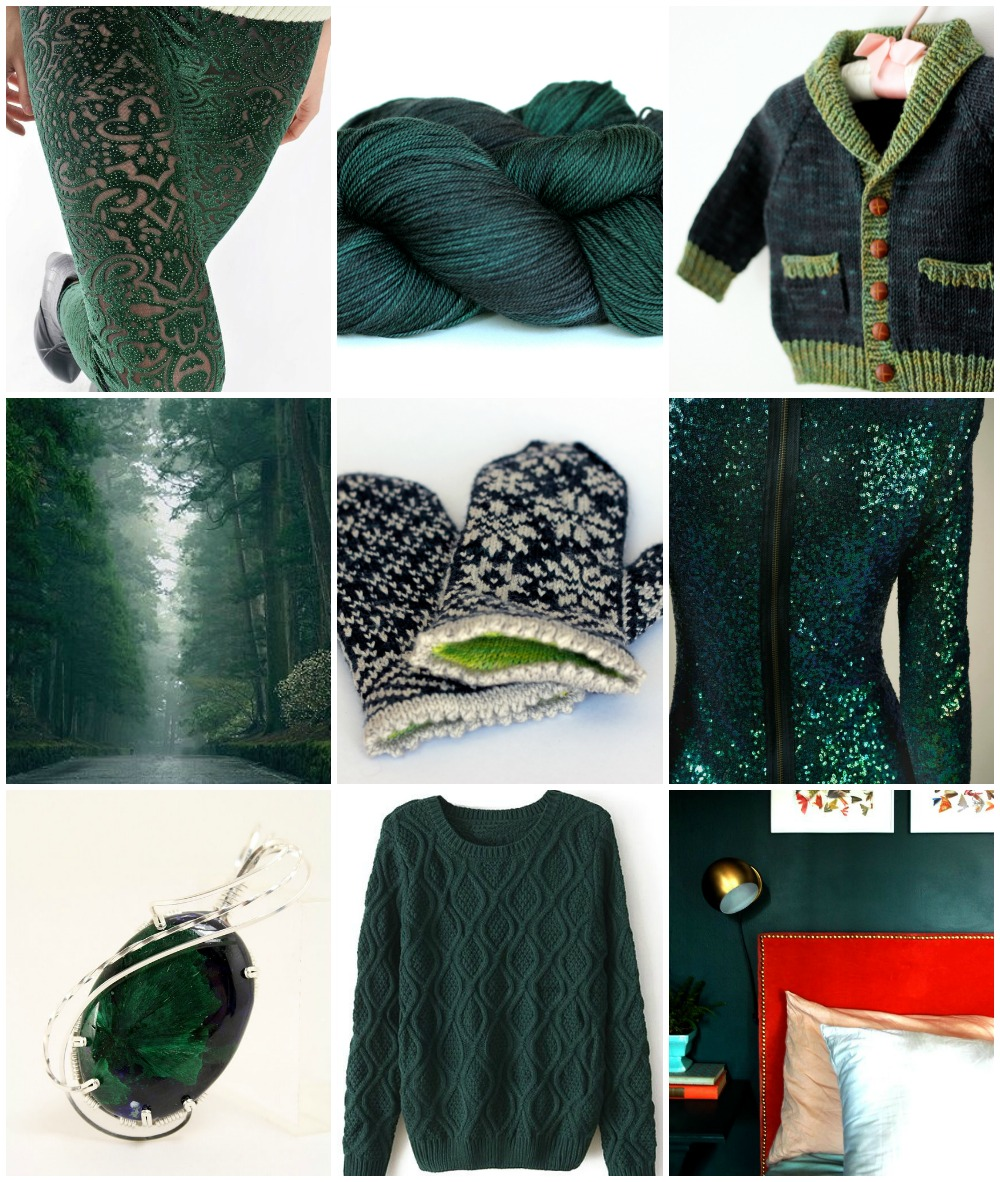 Sources, left to right, top to bottom:  leggings  , TFA Purple Label in  Spruce ,  Gramps ,   tree lined road  ,  Snowfling Mitts ,   sequinned dress  ,   Gem  ,   cabled sweater  ,   green room  .