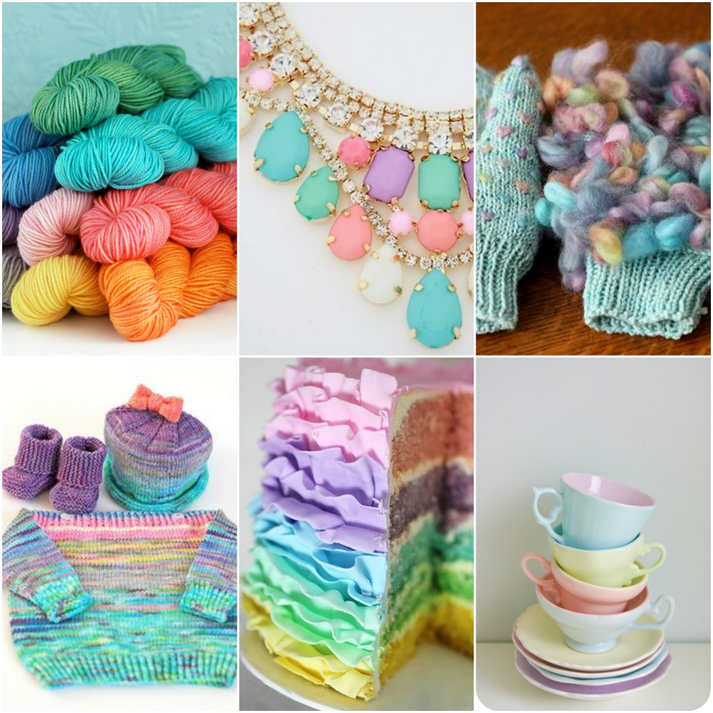 Pinterest sources: necklace, thrummed mitts, watercolour sweater, cake, tea cups.
