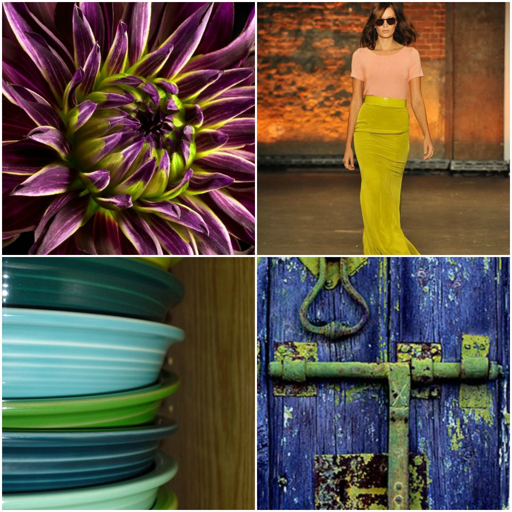 Sources: flower, runway model,  stacked bowls, blue door.