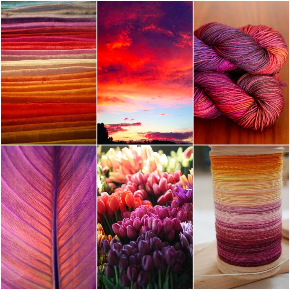 Sources: silks, Nova Scotia Sunset, super canyon, leaf, tulips, spun singles.