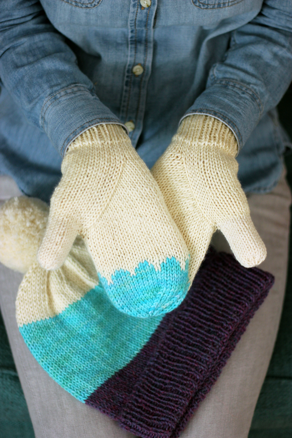 4a16caabee3 Arched Gusset Mitts and Classic Cuffed Hat Set — Tanis Fiber Arts