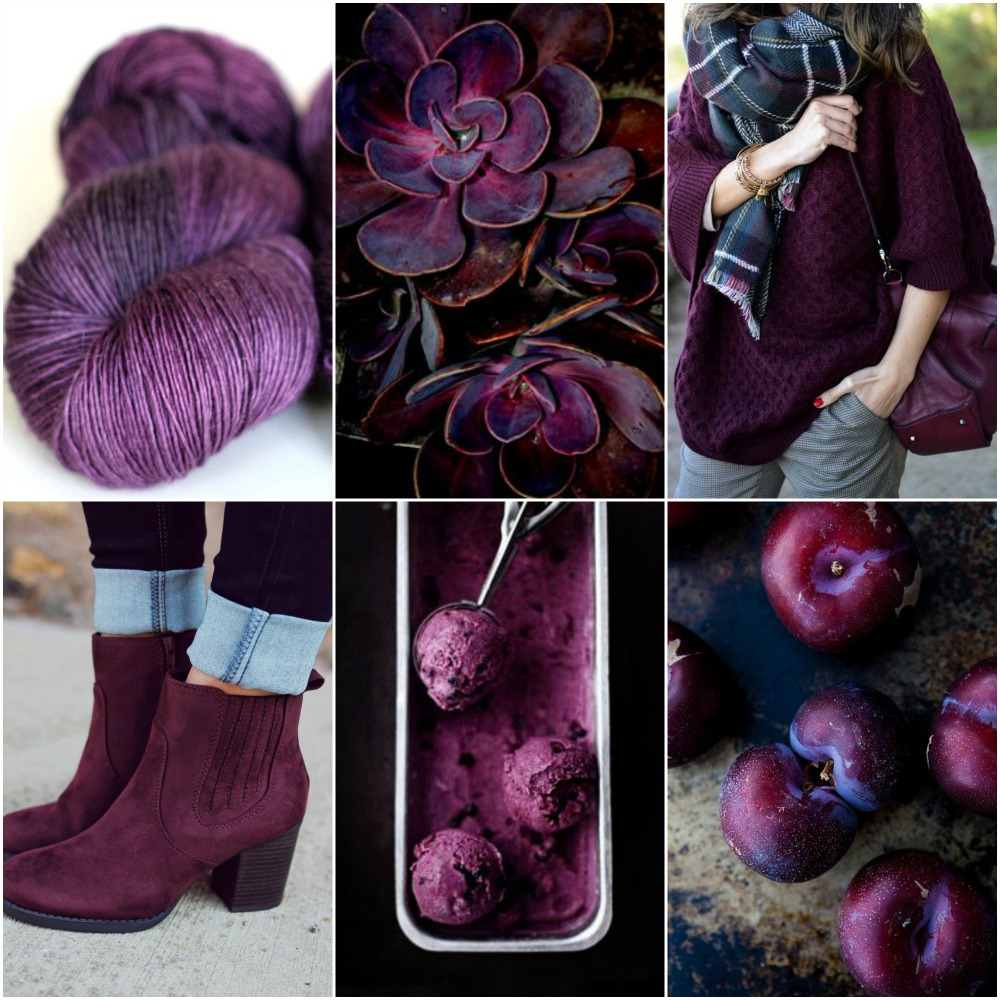 TFA Red Label in Plum, succulents, sweater, boots, ice cream, plums.