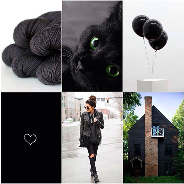 TFA Green Label Aran Weight in Charcoal, cat, balloons, heart, black leather look, black house.