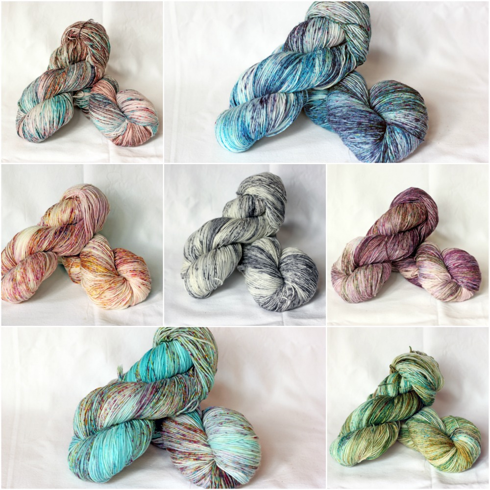 TFA 8-ply twist in some of our favourite speckled colourways!