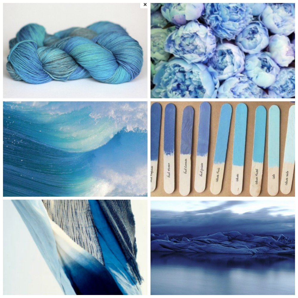 A OOAK Sky Blue colourway from an Etsy update long ago, flowers, waves, popsicle sticks, scarves, another beautiful shot of Iceland borrowed from my brother's recent trip with his girlfriend.