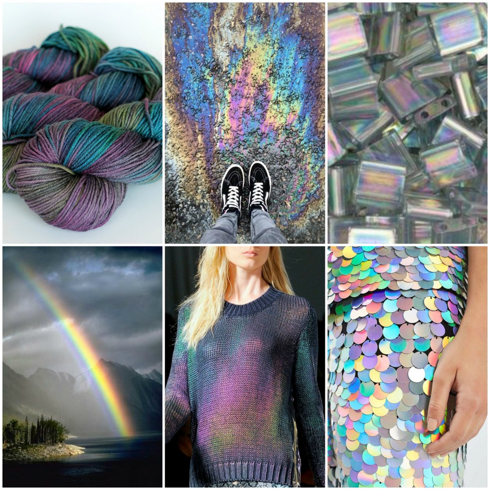 TFA PureWash Worsted in Prism, shoes, beads, rainbow, sweater, sequins.