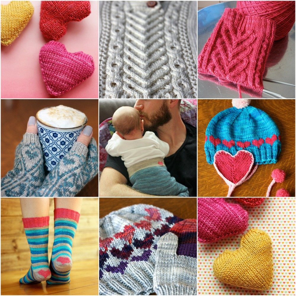 Love Your Forever  heart pattern,  I Heart Aran ,  Sweetheart Socks ,  Adelia Mitts ,  Rocky Joggers ,  earflap heart hat ,  heart on my heels ,  Ombre heart hat ,  Love Your Forever  heart pattern.