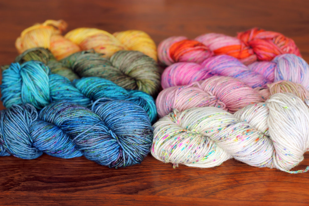 Top to bottom, left: Poolside, Atlas, Grassroots, Mimosa  Top to bottom, right: Paisley, Juliette, Smitten, Luna