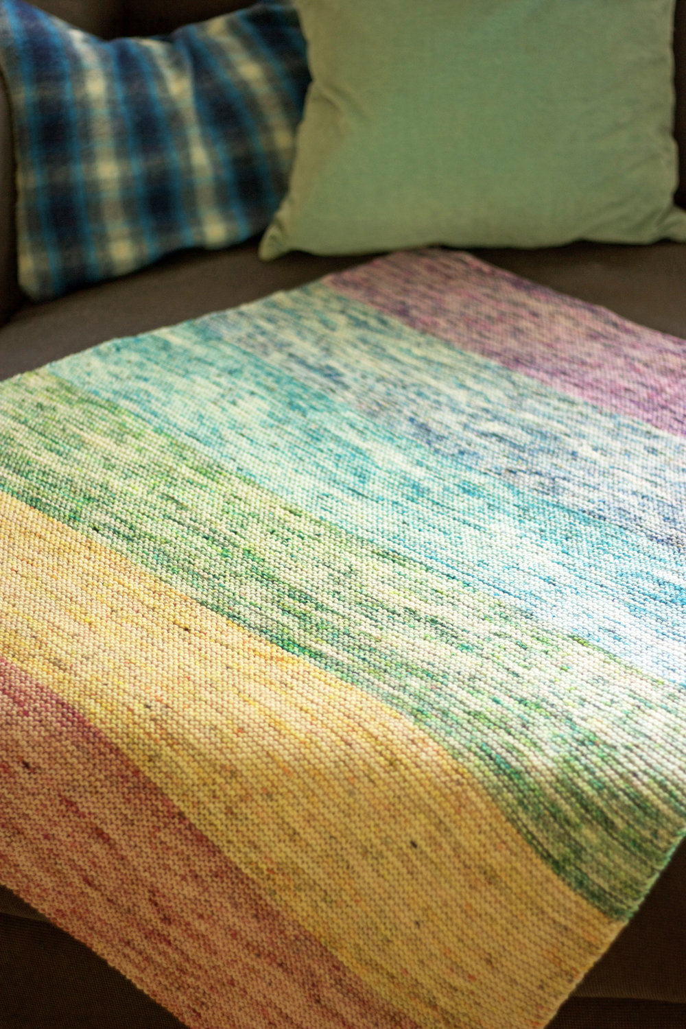 White Light blanket by Tanis Fiber Arts