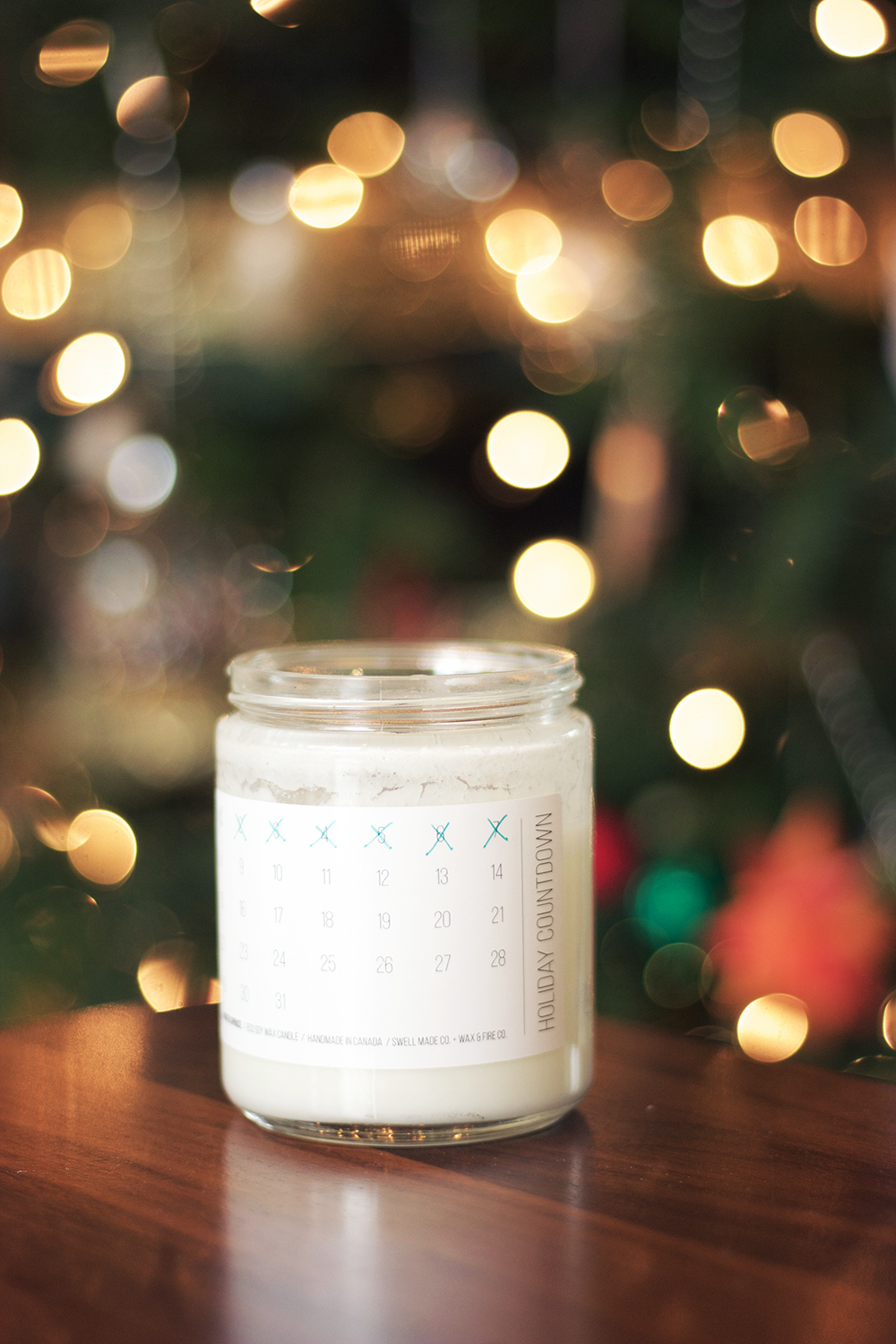 I've been burning this advent candle from Swell Made Co since the 1st of the month and am loving the ritual. The scent is perfection (we have a real Christmas tree, but this just ups the scent factor by a bit) and crossing off the days makes me feel like a kid again!