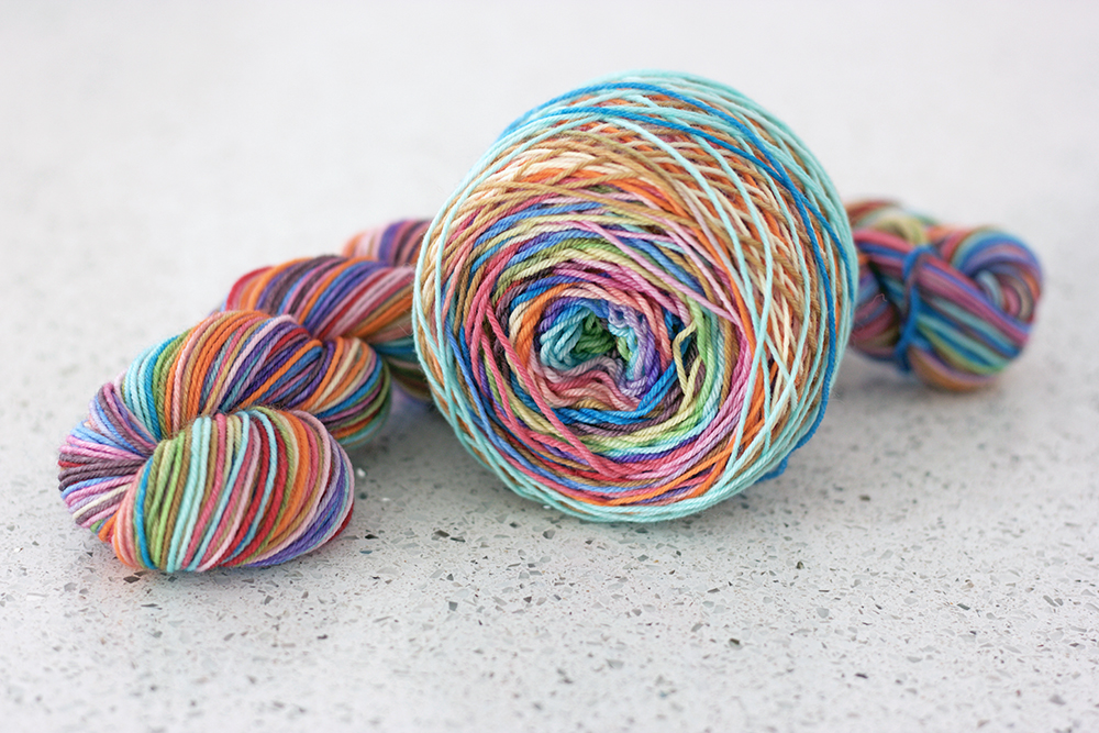 Kama Sutra colourway by  Must Stash Yarn