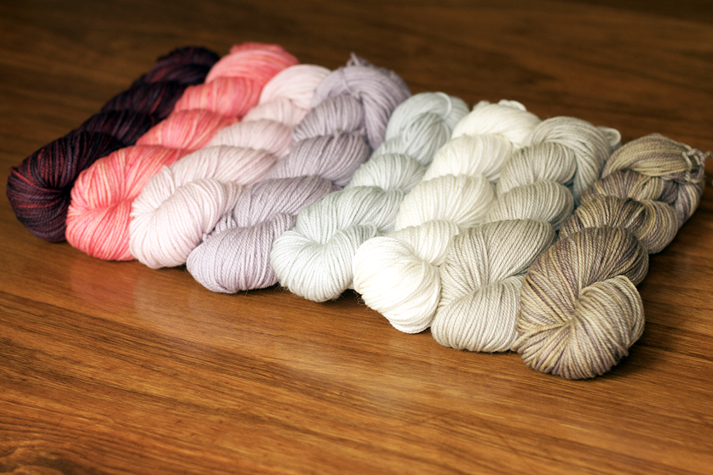 Was planning a shawl design with this palette but in the end I realized that it really wants to be a  Golden Hour Shawl  so I'll be casting on for that today!