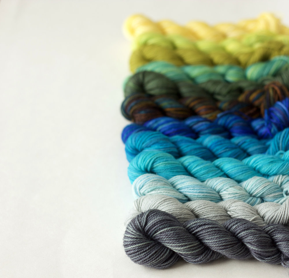 There's a new  Mini Sock Yarn Skein Set  in the shop! A new  Palette  too!