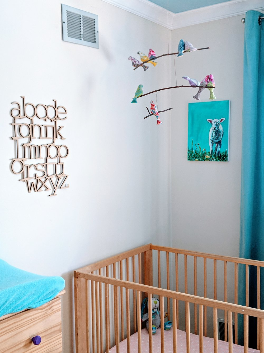 Our nursery has been the same for all three kids and I love it!
