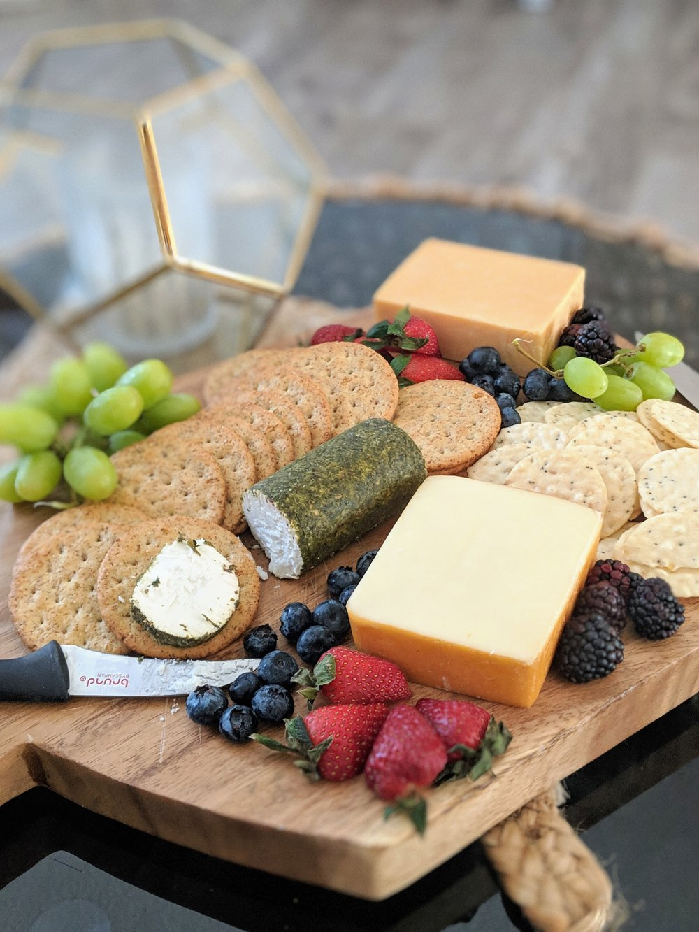 Julie threw this beautiful cheese board together in seconds! A real talent.
