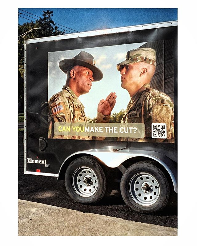 @the_united_states_army is recruiting both Mohels (moyel) and field medics with on location  experience... bring your resume and or foreskin jar to  this truck by the salvo on Fairview 😇. - Another from the #minoltax570 test roll. With student loans and other debt caving in around me I might need to sell this camera kit after all— despite how much I love it. If anyone is interested it comes with a flip down (removable top leather case) original arm straps, Minolta flash w leather case, and 50 1.7 lens. It's small, simple, and reliable. DM me for pix