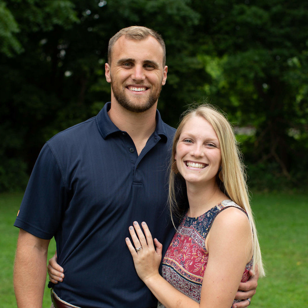 "Logan & Kara Hershenow - I grew up going to church regularly with loving parents who continued to push me towards Christ. However, being the sinner I am, I was stubborn and stuck on worldly idols. I believed that I could fool those around me with my successes. I was motivated by success in all stages of life. It wasn't until my junior year of high school that I really began to have a heart change towards the Lord. Fortunately the Lord used my baseball teammates and other friends to get me involved with a ministry called Young Life, and it was there where I began to understand what the Gospel really was.I began my college years at Jefferson College where I quickly realized how important a community was, as I was surrounded by a lot of non-believers on the baseball team. A verse I began to cling to was Romans 1:16 ""For I am not ashamed of the gospel, for it is the power of God for salvation to everyone who believes."" Fortunately baseball landed me at Eastern Kentucky University two years later where I was able to get plugged in with Campus Outreach. A man by the name of Blake Buckman began to show me what it looked like to be an unashamed believer of Jesus Christ and how to share my faith with others as he invested his time in me. I learned how to study scripture and invest time in friends and fellow students. Blake challenged me to live a more Christ centered life and showed me how to be a biblical man. My heart now goes out to all those students and athletes on the college campuses that do not know the Lord. I am praying that He will now move and use me to help impact others lives in the way that mine was and in the end build up laborers for Christ and His glory."
